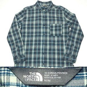 The North Face  Women's Gray Plaid Soft Flannel